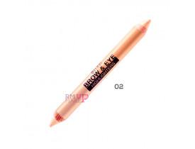 Lápis Jumbo para Sobrancelhas Duo Brow e Eye Highlighters Matte Cream/Luminous Lift Milani