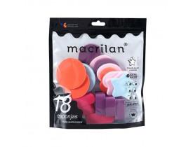 Kit 18 Esponjas Para Maquiagem Macrilan