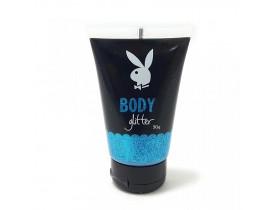 Body Glitter Gel Corporal Cor Azul Playboy