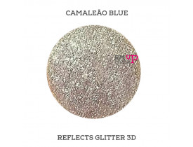 Reflects Glitter 3D Camaleão Blue Color Pigments