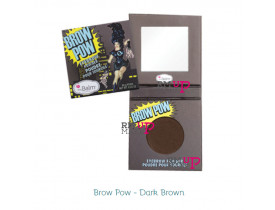 Sombra de Sobrancelha Brow Pow Dark Brown The Balm