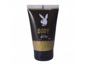 Body Glitter Gel Corporal Cor Dourado Playboy