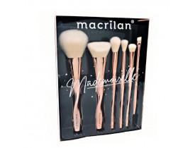 Kit de Pincéis Profissionais Mademoiselle ED004 Macrilan