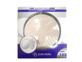 Espelho de Aumento 10x com Ventosa Klass Vough