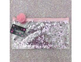 Necessaire PVC com Estrlinha Rosa