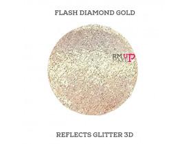 Reflects Glitter 3D Flash Diamond Gold Color Pigments