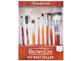 Kit de Pincéis Brown Line Best Seller KlassVough