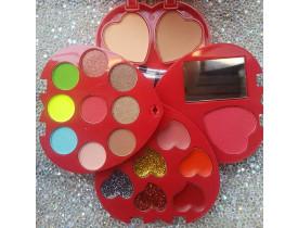 Kit de Maquiagem Infantil Coração Vermelho Mylife