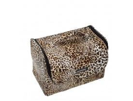Maleta Profissional para Maquiagens Leopardo Klass Vough