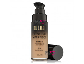 Base Conceal+Perfect 2-IN-1 03 Light Beige Milani