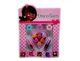 Estojo de Maquiagem Infantil Disco Teen Brilho e Batom