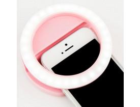 Anel de Luz LED com Clipe Selfie Ring Light para Celular