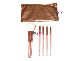 Kit de Pincéis para Maquiagem Miss Frandy-rosa