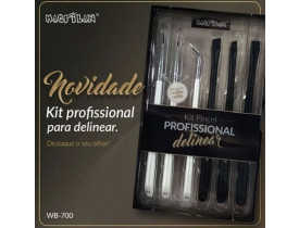 Kit de Pincéis para Delinear WB700 Macrilan